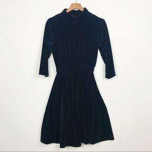 WORTHINGTON Vintage Turtleneck Dress Velvet 8P